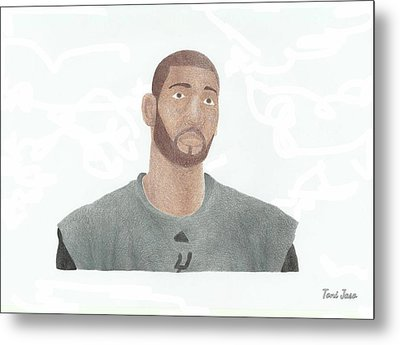 Tim Duncan Metal Print by Toni Jaso
