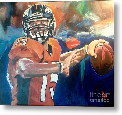 Tim Tebow #2 Metal Print by Ian Jackson