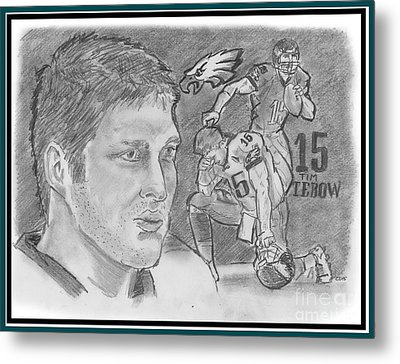 Tim Tebow Metal Print by Chris  DelVecchio