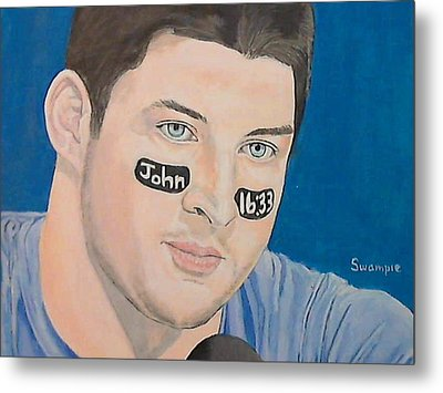 Tim Tebow Metal Print by Richard Retey