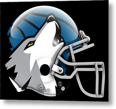 Timberwolves What If Its Football Metal Print by Joe Hamilton