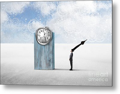 Time  Metal Print by Aimelle ML
