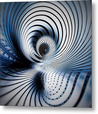 Interlock Blue  Metal Print