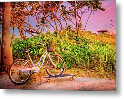 Metal Print featuring the photograph Time For Beach Fun by Debra and Dave Vanderlaan