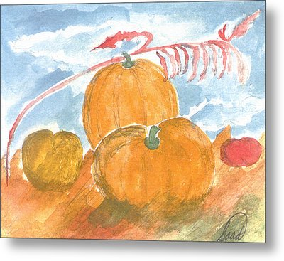 Metal Print featuring the painting Time For Harvest by Saad Hasnain