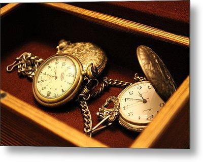 Time In A Box Metal Print