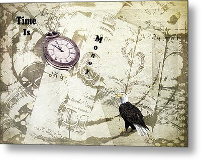Time Is Money Metal Print by Diane Schuster