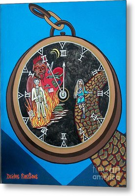 Time Is Running Out And I Am Running Scared Metal Print by Deidre Firestone