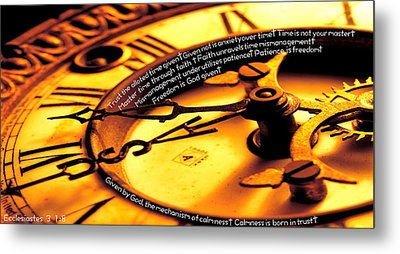 Time Management Metal Print