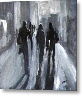 Time Of Long Shadows Metal Print by Barbara O'Toole