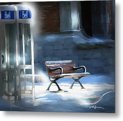 Time Passages - Call Waiting Metal Print by Bob Salo