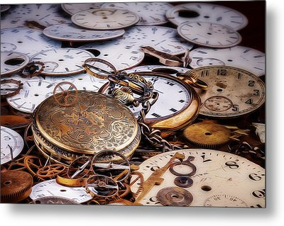 Time Pieces Metal Print