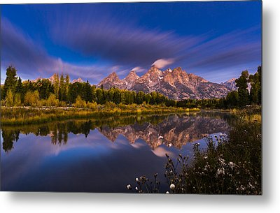Time Stops Over Tetons Metal Print by Edgars Erglis
