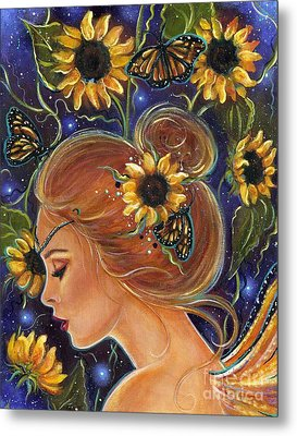 Time To Be Free Metal Print by Renee Lavoie