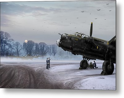 Metal Print featuring the photograph Time To Go - Lancasters On Dispersal by Gary Eason