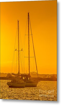 Time To Sail Metal Print by Marvin Spates