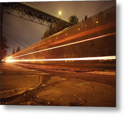 Time Train Metal Print by Benjamin Garvey