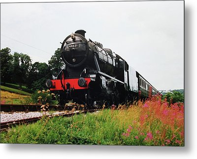 Time Travel By Steam Metal Print