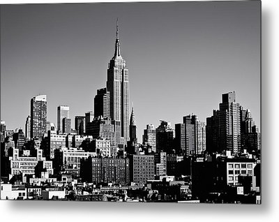 Timeless - The Empire State Building And The New York City Skyline Metal Print by Vivienne Gucwa