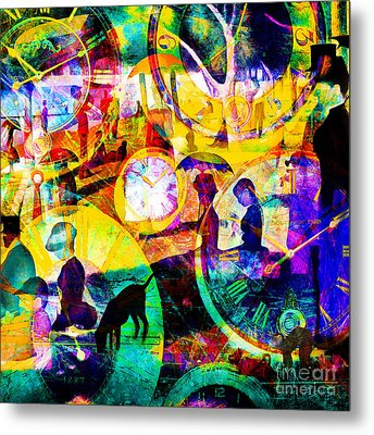 Timeless Art A Sunday On La Grande Jatte 20160229 Square Metal Print by Wingsdomain Art and Photography