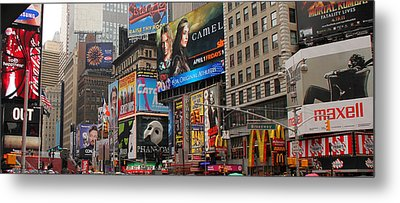 Times Square 4 Metal Print by Andrew Fare