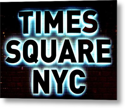 Times Square 4 Metal Print by NDM Digital Art