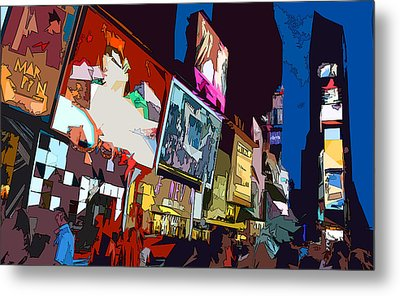 Times Square Metal Print by Christopher Woods