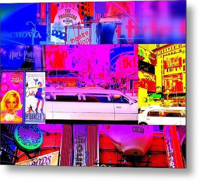 Times Square Frenzy Metal Print by Funkpix Photo Hunter