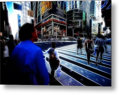 Times Square New York City Metal Print by Lawrence Christopher