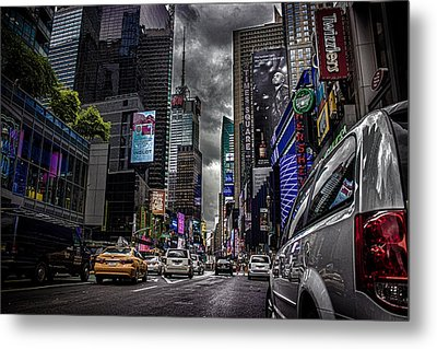 Times Square Nyc Metal Print by Martin Newman