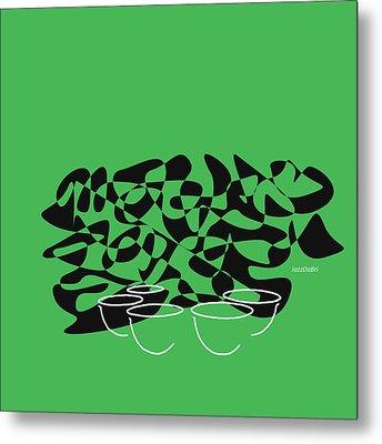 Timpani In Green Metal Print
