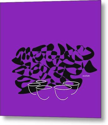 Timpani In Purple Metal Print
