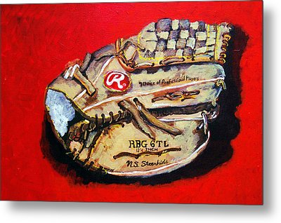 Tim's Glove Metal Print