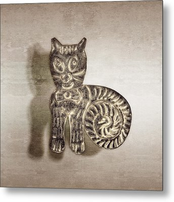 Tin Cat Metal Print by YoPedro