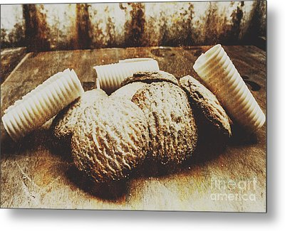 Tin Sign Baked Butter Biscuits Metal Print