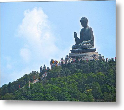 Tin Tan Buddha In Hong Kong Metal Print