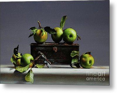 Tin With Wild Apples Metal Print