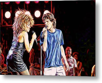 Tina Turner And Mick Jagger Collection Metal Print by Marvin Blaine