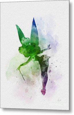 Tinker Bell Metal Print by Rebecca Jenkins