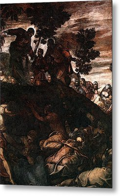 Tintoretto The Miracle Of The Loaves And Fishes Metal Print by Jacopo Robusti Tintoretto