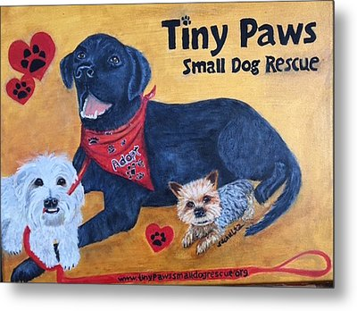 Tiny Paws Small Dog Rescue Metal Print