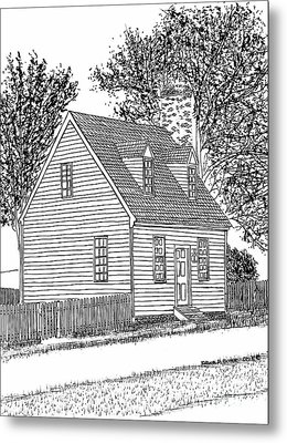 Tiny Restored Home, Historic District, City Of Williamsburg, Virginia Metal Print by Dawn Boyer