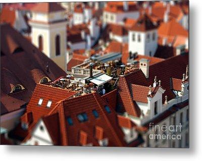 Tiny Roof Restaurant Metal Print by Joerg Lingnau