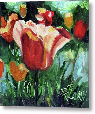 Tip Toe Thru The Tulips Metal Print by Billie Colson
