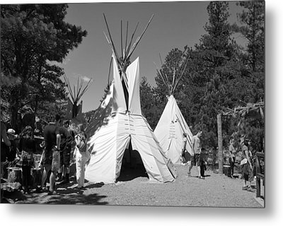 Tipis In Black Hills Metal Print
