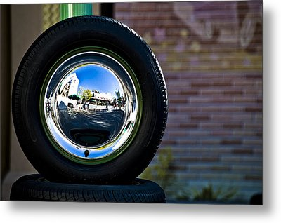 Tired Reflections Metal Print