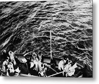 Titanic. A Boatload Of Titanic Metal Print by Everett