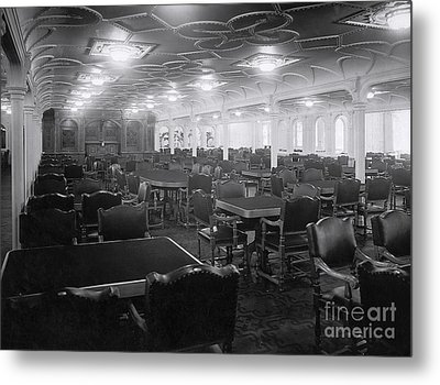 Titanic's First Class Dining Room Metal Print by The Titanic Project