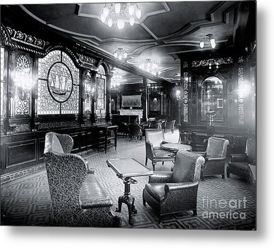 Titanic's First Class Smoking Room Metal Print by The Titanic Project