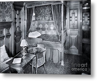 Titanic's First Class Stateroom B59 Metal Print by The Titanic Project